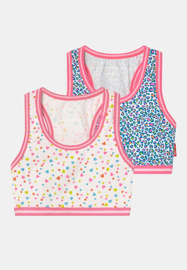 GIRLS HEARTS 2 PACK - Bustino - blue
