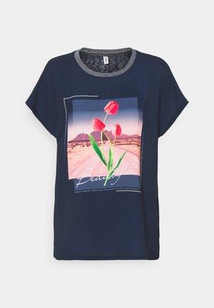 ONLRHINA LIFE FLOWER - T-shirts med print - night sky