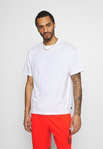 TEE ESSENTIALS UNISEX - T-shirt - bas - white
