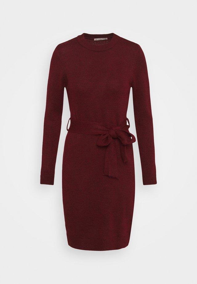 Jumper dress - Shift dress - dark red