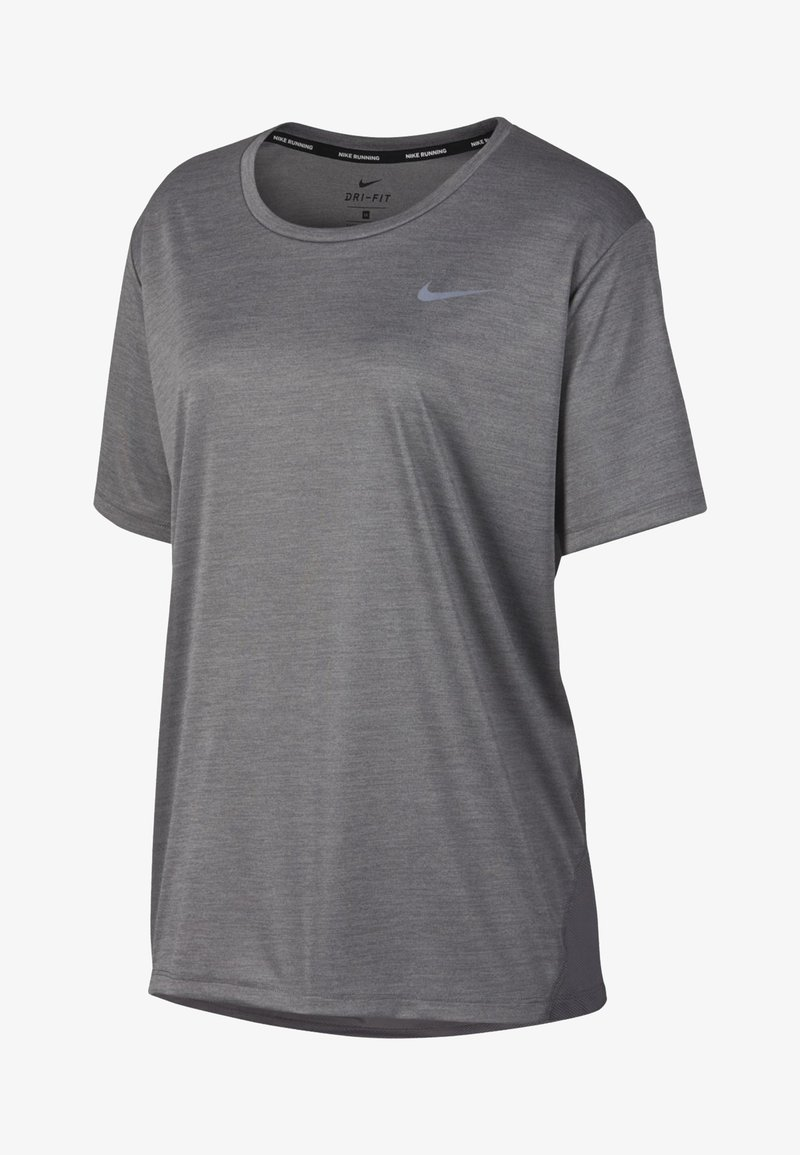 Nike Performance - DRY MILER PLUS - Basic T-shirt - gray