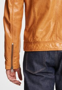 Gipsy - DERRY - Leather jacket - yellow - 4