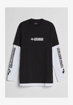 SUPER NINTENDO - Long sleeved top - black
