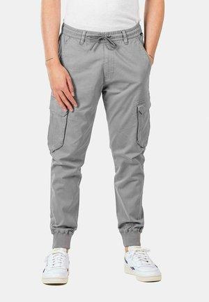 REFLEX RIB CARGO - Cargo trousers - light grey
