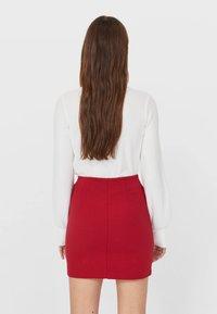 Stradivarius - A-line skirt - red - 2