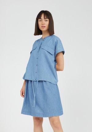 Button-down blouse - foggy blue