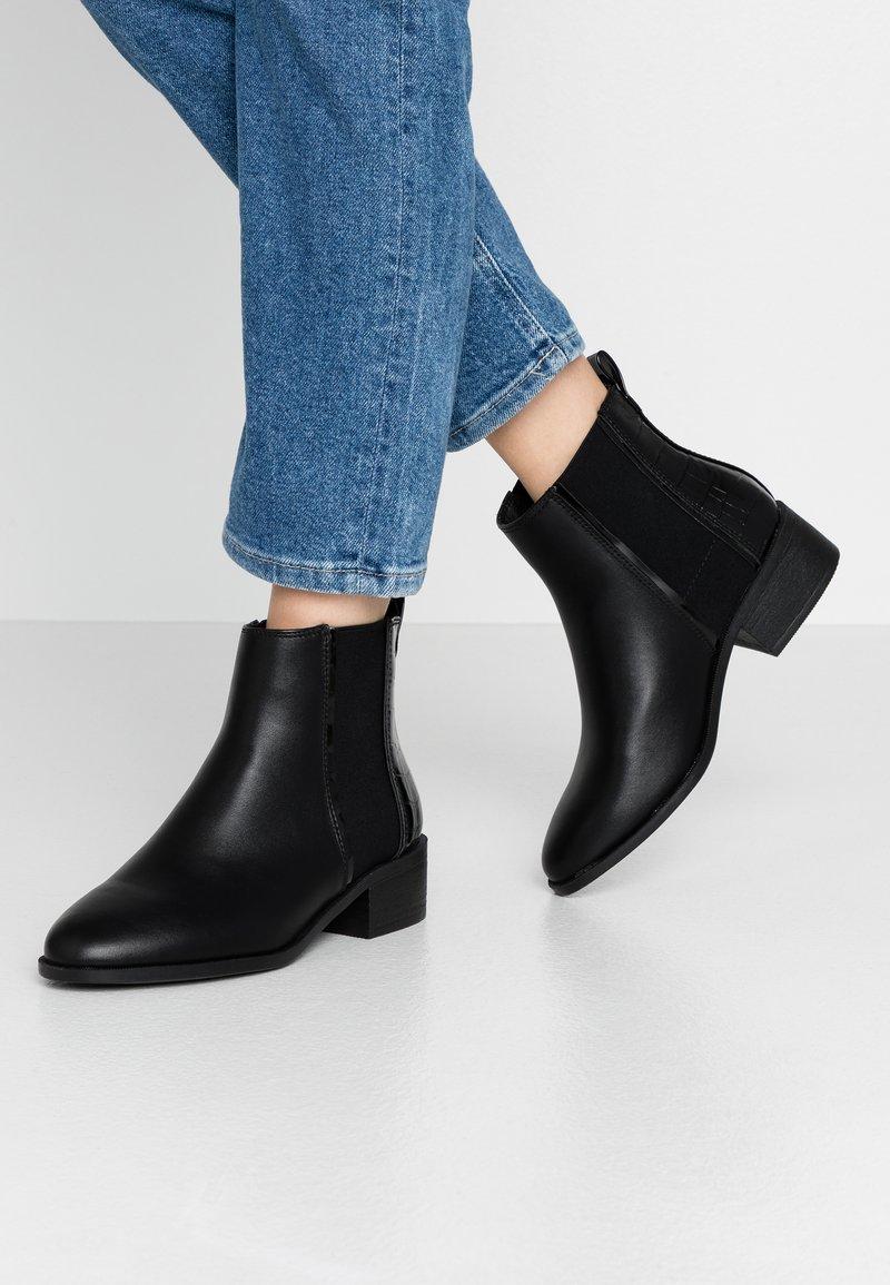 New Look Wide Fit - WIDE FIT ANDIE - Kotníková obuv - black