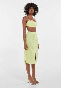 Bershka - A-line skirt - yellow - 1