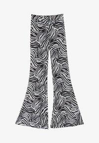 PULL&BEAR - ZEBRAMUSTER - Trousers - black - 5