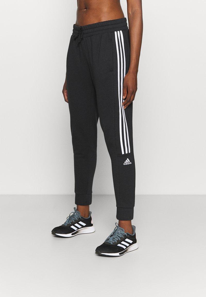 adidas Performance - COLORBLOCK ESSENTIALS - Teplákové kalhoty - black/white