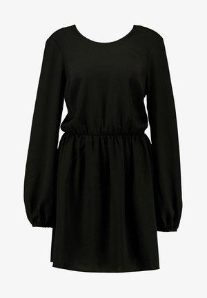 VOLUME BACK FOCUS DRESS - Hverdagskjoler - black
