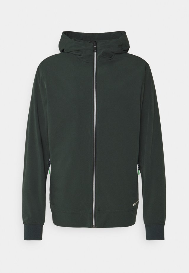 HOODED JACKET - Chaqueta fina - sea green