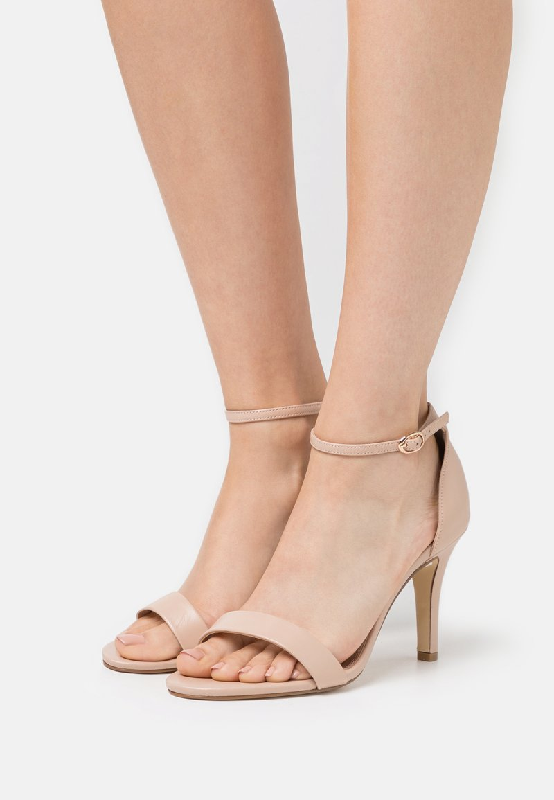 Dune London WIDE FIT - WIDE FIT MYDRO - High heeled sandals - nude