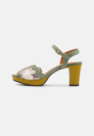 NALE - Platform sandals - salvia/dali iron/freya rice/ada curry