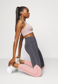 Even&Odd active - Leggings - grey/pink_rose - 1