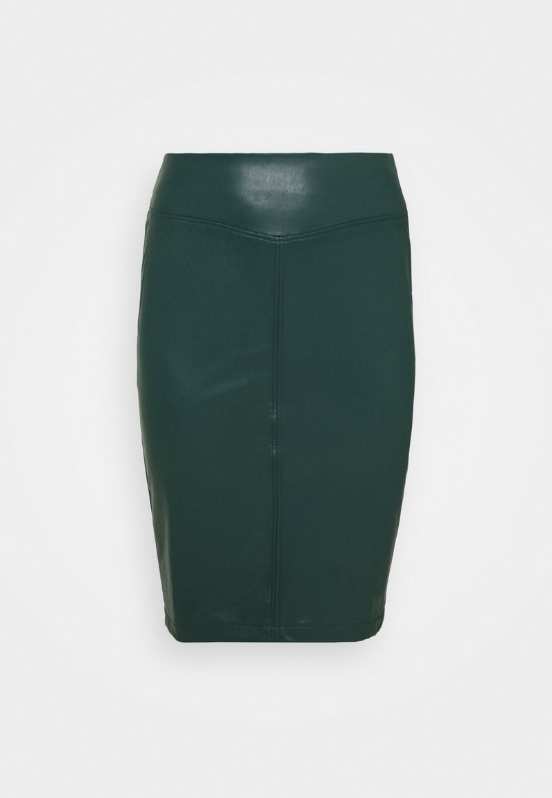CAPSULE by Simply Be - PULL ON PENCIL SKIRT - Jupe crayon - bottle green