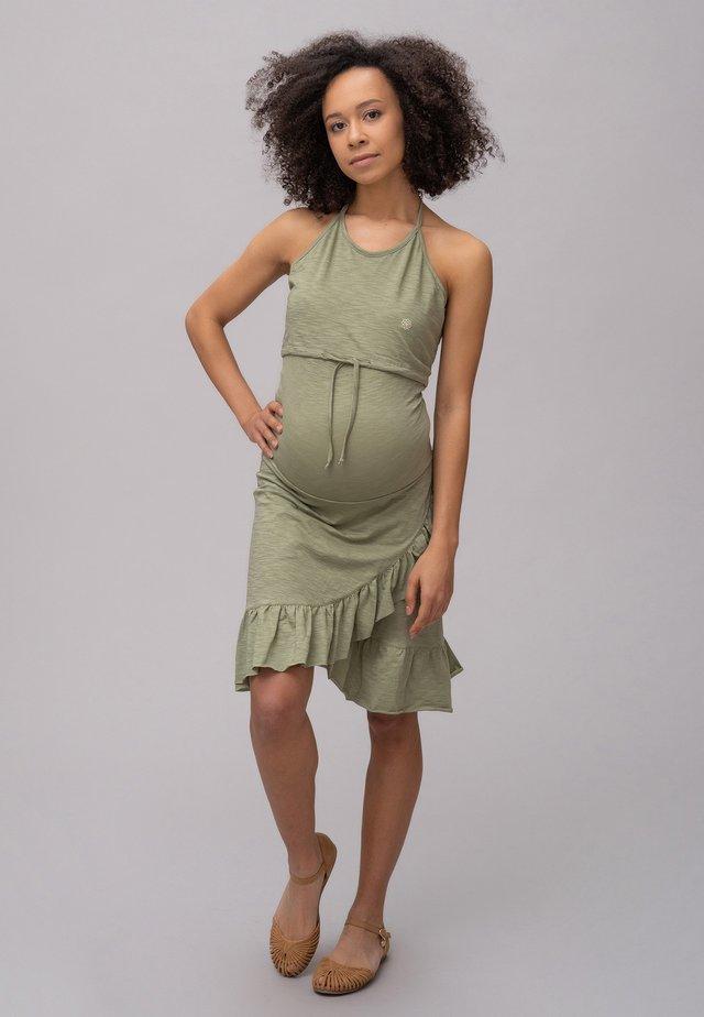 Korte jurk - oil green