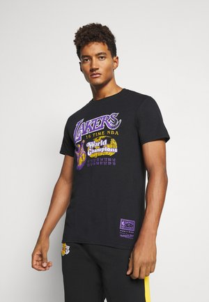 NBA LA LAKERS 16X WORLD CHAMPIONS TEE - Article de supporter - black