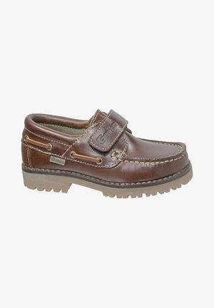 NÁUTICO COLEGIAL - Zapatos con cierre adhesivo - brown