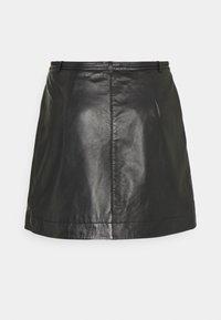 Selected Femme Petite - SLFRALLA SKIRT - Mini skirt - black - 1