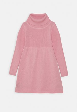 KIDS ROLLNECK DRESS - Pletené šaty - mauve