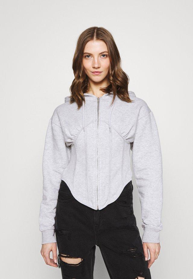 CORSET HOODY - veste en sweat zippée - grey marl