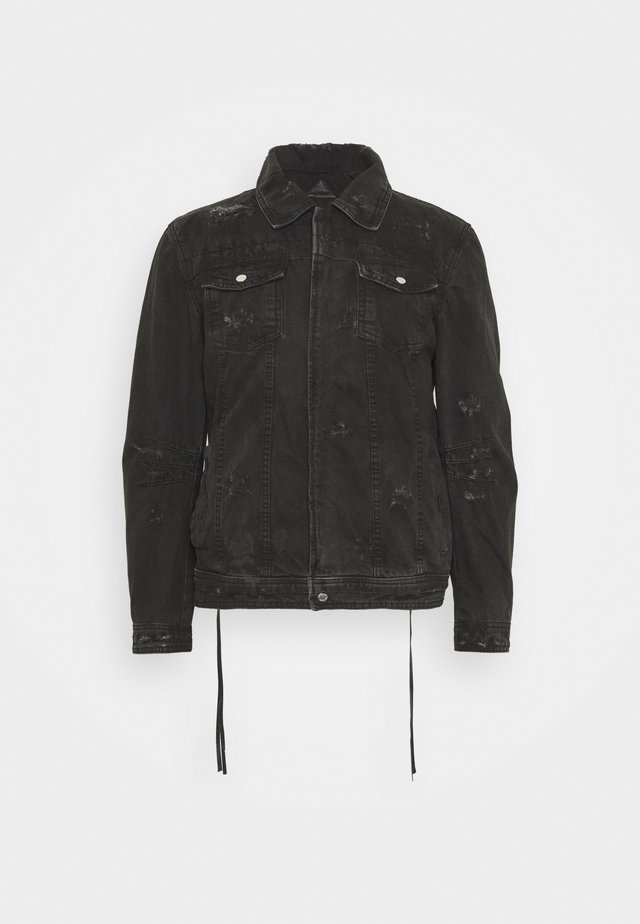 RAVE - Džínová bunda - black