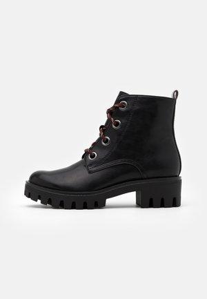 BOOTS - Platform ankle boots - black/anthracite