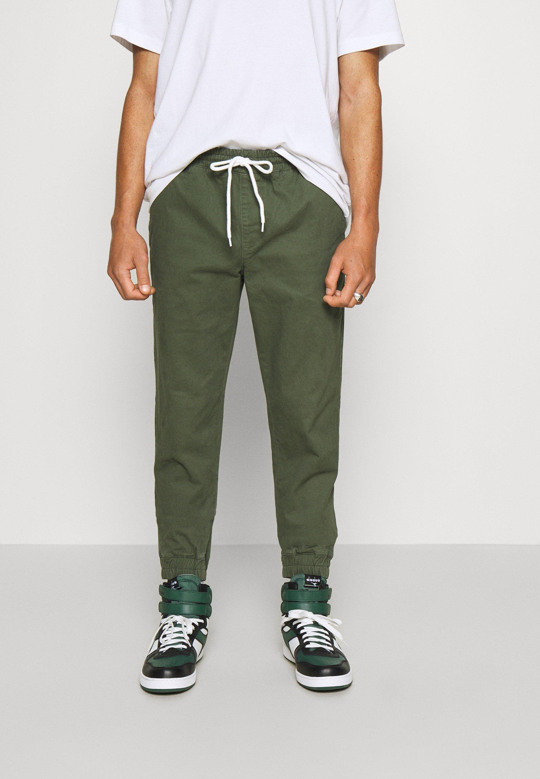 Men ELASTIC CUFF PANTS - Tracksuit bottoms