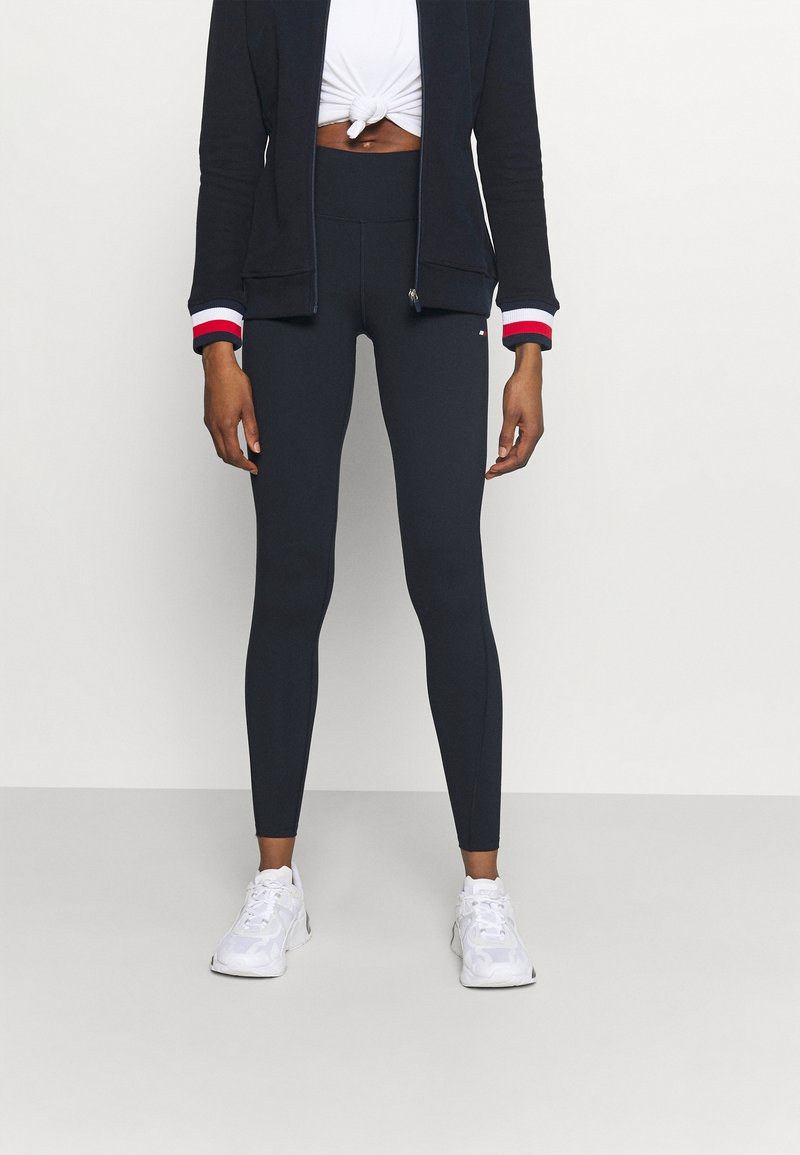 Tommy Hilfiger - GRAPHIC LEGGING - Legging - blue