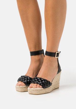ST. TROPEZ - Platform sandals - Sandály na vysokém podpatku - noir
