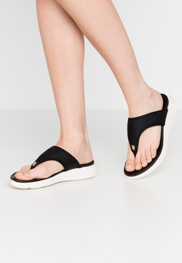 ENORAH - Sandaler m/ tåsplit - black