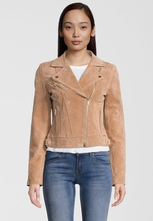 DAMINA - Leather jacket - tan