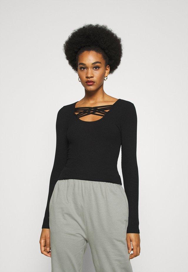 ONLMARY - T-shirt à manches longues - black