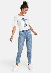 Taifun - Jeans Skinny Fit - blue denim gemustert - 1