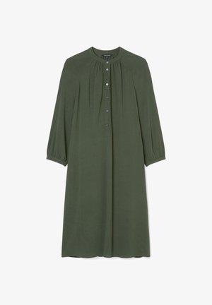 Shirt dress - deep pine