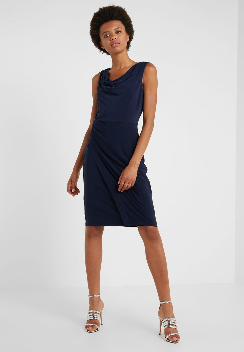 DKNY - SHEATH WITH RUCHING - Shift dress - midnight
