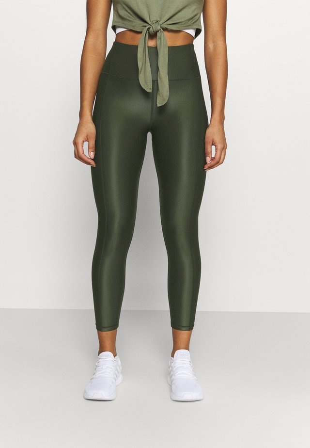 HIGH SHINE 7/8 WORKOUT - Tights - dark forest green
