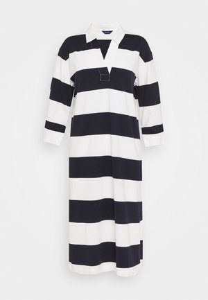 FEMININE STRIPED RUGGER DRESS - Shift dress - evening blue