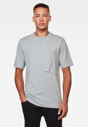 POCKET SQUTAR ROUND SHORT SLEEVE - Basic T-shirt - correct grey