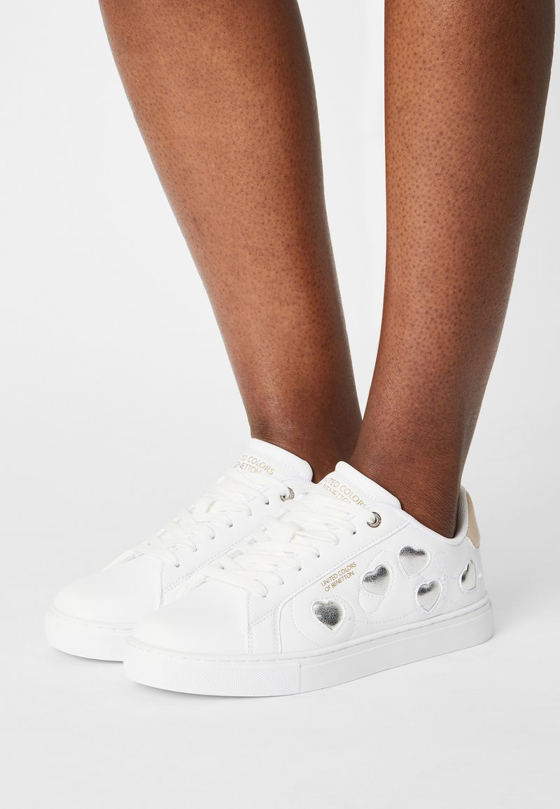 Benetton - LOVE MULTI  - Sneakers - white/silver
