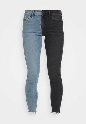 Skinny džíny - mid auth/black