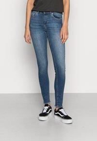 ONLY - ONLBLUSH MID ANKLE RAW - Jeans Skinny Fit - dark blue denim - 0