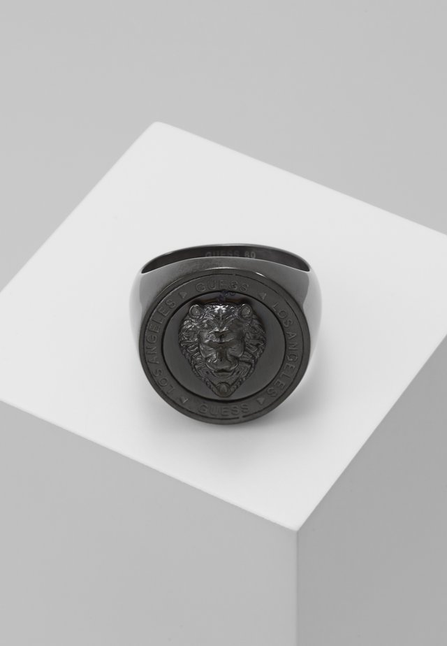 LION HEAD COIN  - Prsten - gunmetal