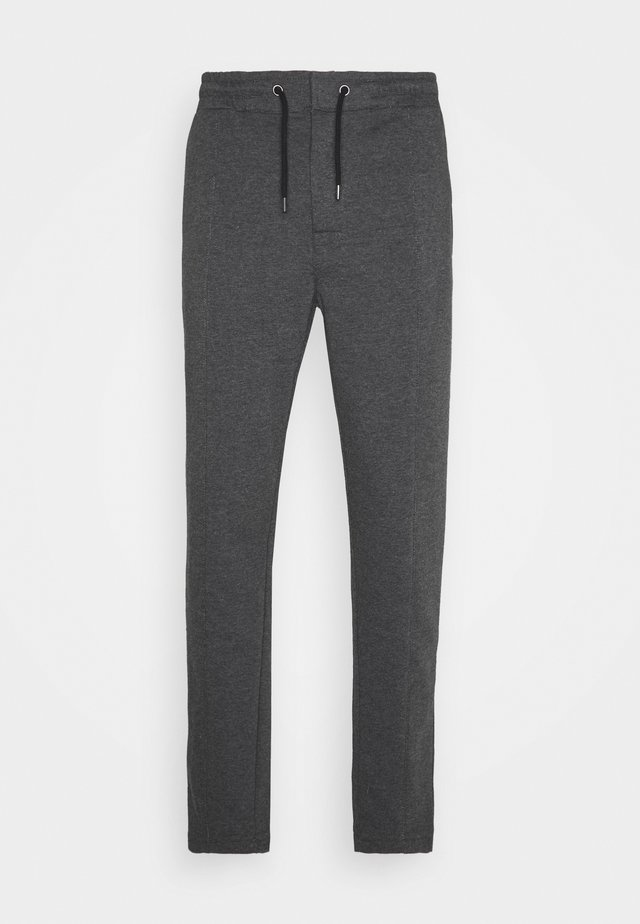 Pintuck Pleat - Tracksuit bottoms - mottled grey