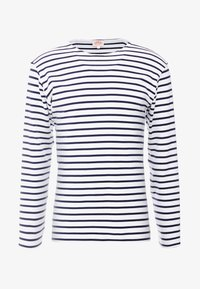 HOUAT - MARINIÈRE - T-SHIRT - Sweatshirt - white / blue