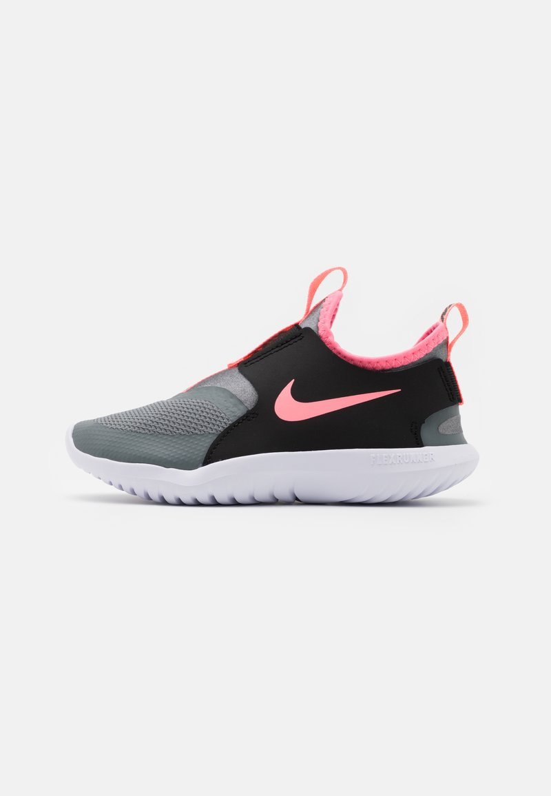 Nike Performance - FLEX RUNNER UNISEX - Neutral running shoes - smoke grey/sunset pulse/black/white