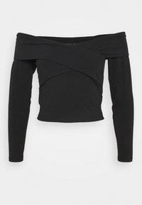 ONLY Petite - ONYSELINA OFFSHOULDER - Long sleeved top - black - 0