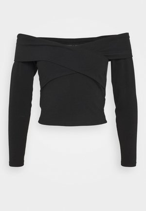 ONYSELINA OFFSHOULDER - Long sleeved top - black