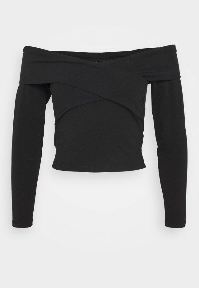 ONYSELINA OFFSHOULDER - Pitkähihainen paita - black
